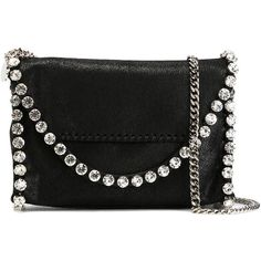 Stella McCartney 'Falabella Shaggy Deer' Shoulder Bag ($900) ❤ liked on Polyvore featuring bags, handbags, shoulder bags, leather shoulder handbags, chain strap purse, real leather purses, stella mccartney purse and faux leather shoulder bag