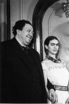 Frida Kahlo & Diego Rivera Hermosa, bella e inteligente...