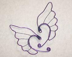Elf Ear Cuffs - Valkyrie Wings - Purple- Heathen Jewelry - Elf Ear Earrings -  Viking Jewelry - Freya