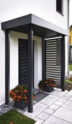 Best ideas of door canopy that will beautify your home - house - zenidees Modern Entrance, Modern Door, House Entrance, Modern Architecture House, Residential Architecture, Canopy Architecture, Architecture Drawings, Door Canopy, Home Design Plans