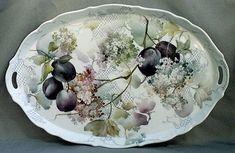 Celee Evans~Porcelain~Plums & Snowballs