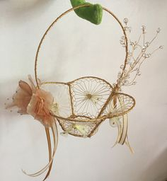 Gold Flower girl basket