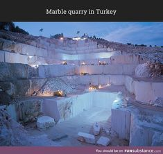 Post with 483 views. Marble quarry in Turkey Limestone Quarry, Beige Marble, Marble Stones, Beautiful Places, Environment, World, Nature, Instagram, Carrara