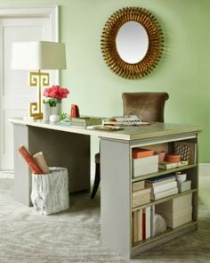 Love this roundup of great DIY desk ideas that reuse, repurpose, recycle and upcycle stuff!