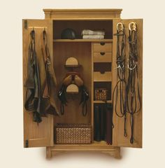 An Armoire to put all your tack in? Yes I will have one in my tack room thank you very much.What a great idea! Dream Stables, Dream Barn, Horse Stables, Horse Barns, Horse Tack, Horses, Tack Locker, Tack Box, Tack Trunk