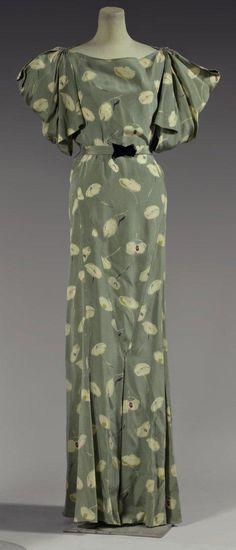 Garden party dress, Madeleine Vionnet, 1934.