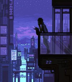 #artwork #pixel #city #night #landscape