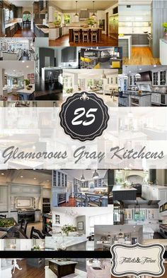 Gray continues its reign as the hottest neutral color right now and exudes a sense of sophistication and glamor. There are so many different styles of gray to choose from, such as Pewter, Charcoal, Greige (a cross between Gray and Beige) and Blue Gray, that the color can work in any style of kitchen from traditional, to modern to eclectic. And think beyond just walls! In the images below you'll see that the color introduced not just on the walls, but the backsplash, the cabinets and even ...