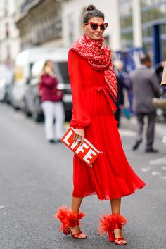 "STYLECASTER | Coolest On-Trend Clutches | Street Style Accessories | graphic clutch saying ""life"""