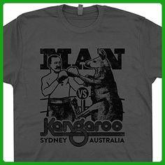 XXXL - Kangaroo Boxing T Shirt Australia Koala Bear Shirts Retro Graphic Design Boxing Man Vs Kangaroos Tees Shirtmandude T Shirts - Retro shirts (*Amazon Partner-Link)