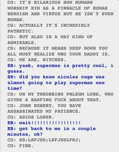 """I love how Karkat is just like """"later"""" but then John is like """"Wait! D':"""" and Karkat actually does -w-"""