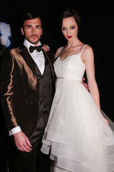 Backstage de Miquel Suay en Barcelona Bridal Week 2014 #Moda nupcial #Vestidos de novia #Novia #Bride #Bridal #WeddingDresses www.barcelonabrid...