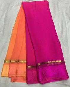 No photo description available. Satin Saree, Chiffon Saree, Saree Dress, Tunic Designs, Sari Blouse Designs, Indian Wedding Outfits, Indian Outfits, Beautiful Saree, Beautiful Outfits