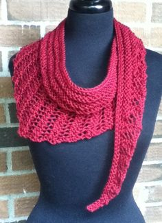 Free Knitting Pattern for Gallatin Scarf