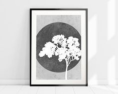 Grey And White Wall Art, Tree Silhouette Print, Nature Art Print, Nordic Minimalist Wall Art, Tree A Orange Wall Art, White Wall Art, Wall Art Sets, Wall Art Prints, Poster Prints, Tree Wall Art, Tree Art, Oil Painting Abstract, Abstract Wall Art