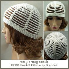 This easy breezy beanie is perfect for the summer. It's not only great for keeping your hair down on a bad hair day, but it can also add style to your outfit. Plus, it's quick and easy to crochet up - so easy it's suitable for a crochet beginner.
