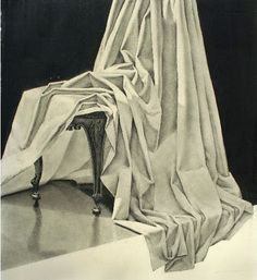 Great set up to practice drapery for a still life drawing