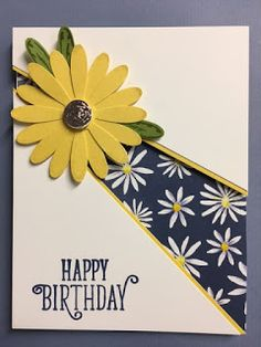 My Creative Corner!: Daisy Delight, Delightful Daisy, Happy Birthday Gorgeous, Birthday Card, Recessed Panel Technique
