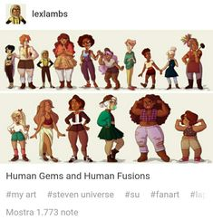 Human gems AU<< I disagree with the appearance of Jasper and Peridot