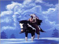 espíritu nativo lobo fondo de pantalla