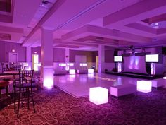sweet 16 | Sweet 16 club theme glow cubes tables dance party | Flickr - Photo ...