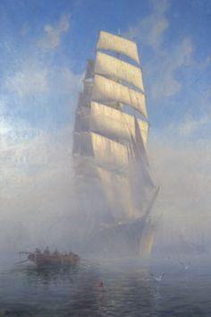Adolf Bockin taidetta Ship Paintings, Sea Art, Baltic Sea, Tall Ships, Marines, Sailing Ships, Nautical, Outdoors, Inspired