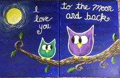 For a mother/daughter class Easy Painting For Kids, Easy Canvas Painting, Diy Painting, Mother Daughter Crafts, Mother Daughter Activities, Mother Son, Birthday Canvas, Kids Canvas Art, Mommy And Son