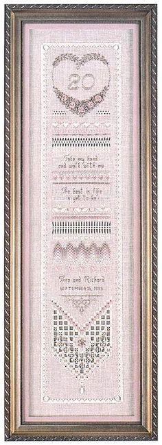 Heirloom Anniversary Sampler by Victoria Sampler - Cross Stitch Kits & Patterns