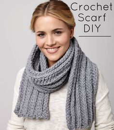 Beat cabin fever with free crochet patterns! Learn how to crochet this cool scarf for a chilly day!  | Crochet Scarves | Crochet Pattern | Crochet  Projects