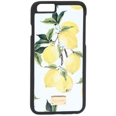 DOLCE & GABBANA Lemons Saffiano Leather Iphone 6 Case ($175) ❤ liked on Polyvore featuring accessories, tech accessories and dolce&gabbana