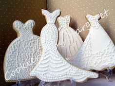 The beautiful detail on these dresses is amazing.  I love the simplicity of the white but stunning because of the details.  Found on flickr by Cookieria by Margaret