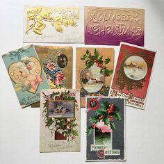 20 Antique Christmas postcards vintage 1910s-20s~ variety~Embpssed ~ ephemera for projects collectibles from MilkweedVintageHome by MilkweedVintageHome on Etsy