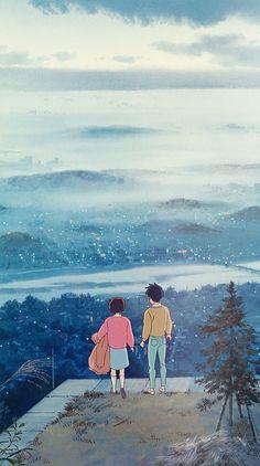 Studio ghibli,whisper of the heart,hayao miyazaki Studio Ghibli Art, Studio Ghibli Movies, Totoro, Animes Wallpapers, Cute Wallpapers, Aesthetic Art, Aesthetic Anime, Old Anime, Anime Art