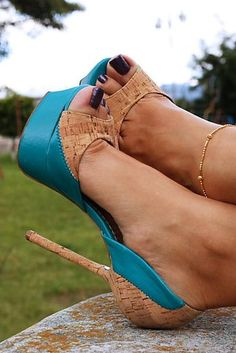 Fun Shoes ~ Love That They Added The Cork On The Shoe Detail, Not Just The Heel. These Are Cute!
