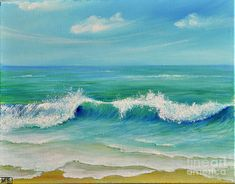 Gentle Breeze Painting  - Gentle Breeze Fine Art Print by TERESA WEGRZYN