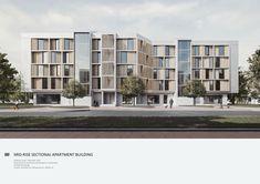Condominium Architecture, Architecture Site Plan, Concept Architecture, Facade Architecture, Residential Architecture, Residential Building Plan, Residential Complex, Building Facade, Mix Use Building