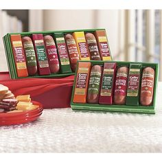 The Swiss Colony Sausages 'n Cheese Bars - http://www.yourgourmetgifts.com/the-swiss-colony-sausages-n-cheese-bars/