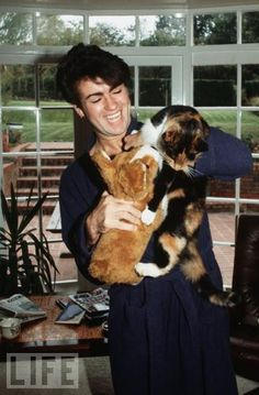 George and his cat...I didn't think it was possible to love him more than I already do! :-)