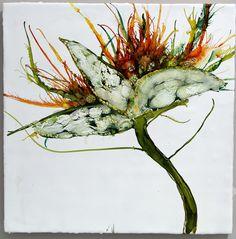 Florals - Julia Fosson Encaustic Art. I'm an official fan!
