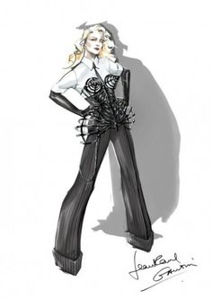 Jean Paul Gaultier for Madonna, she wore this for The MDNA Tour in 2012.