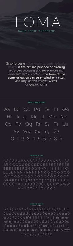 Toma Sans - Toma Sans is a sans serif type family of seven weights plus matching italics. Influenced by the...