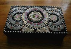 Rose Mosaic Keepsake Box by ree-creation-mosaics, via Flickr