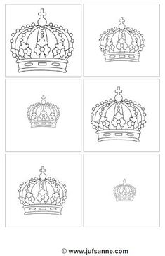 Order from smallest to largest. Crafts For Kids, Arts And Crafts, Paper Crafts, Diy Crafts, Chateau Moyen Age, Petunia, Royal Craft, String Art Templates, Royal Party