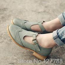 Novo estilo feminino coreano oxfords sapatos estilo britânico de couro esculpido sapatos casuais de alta qualidade sapatos femininos # C072(China (Mainland))