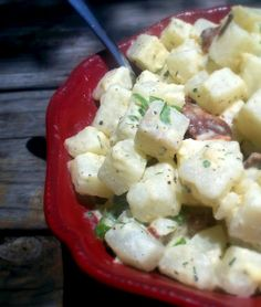 "The Urban Poser:: Creamy Dill No Potato ""Potato"" Salad (Vegan Options) 