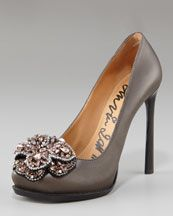 Lanvin Crystal-Flower Pump