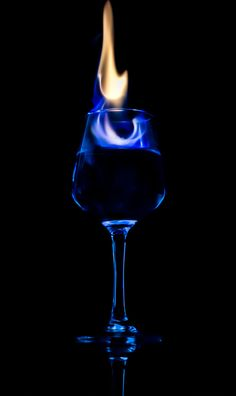"""Blue Flame in Glass"" by Stanley Azzopardi, via Miniature Photography, Glass Photography, Creative Photography, Cocktail Pictures, Dark Purple Background, Cross Pictures, Flame Art, Fire Image, Wine Painting"