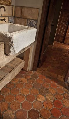 Awesome terracotta floor....