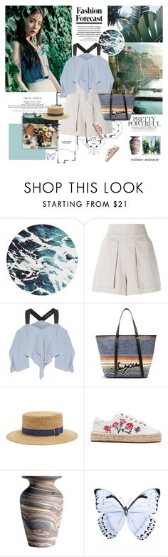 """One day in summer~"" by rainie-minnie ❤ liked on Polyvore featuring Vivienne Westwood Anglomania, Roland Mouret, See by Chloé, Filù Hats and Soludos"