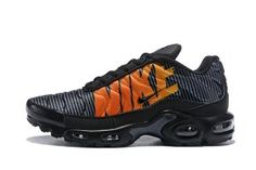 1daa2c80c2b45f Mens Trainers Nike Air Max Plus TN Striped Black Total Orange Anthracite  Tour Yellow AT0040 002